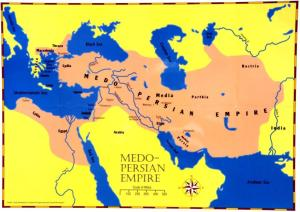Medo-Persian empire map