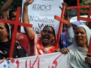 Pakistani Christians Protesting
