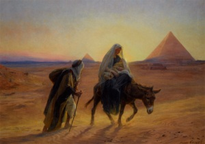 Eugene Alexis Girardet -Flight Into Egypt