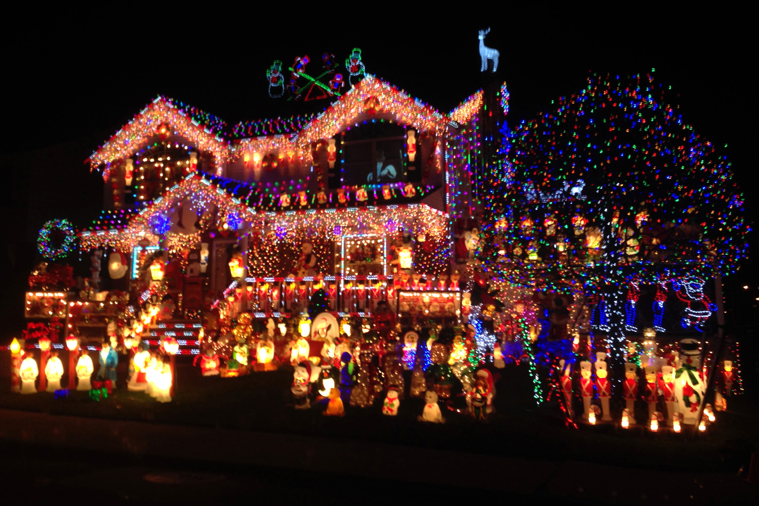 Christmas lights in a minute abidan paul shah Holiday decorated homes