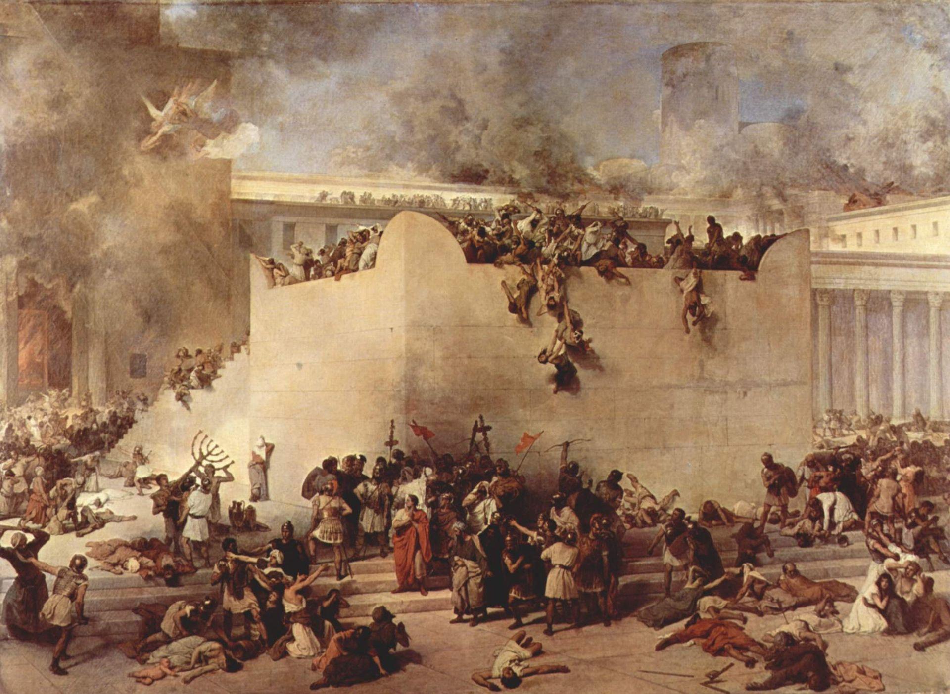 Jerusalem Bread Foundation Destruction Of The Temple Of Jerusalem Francesco Hayez